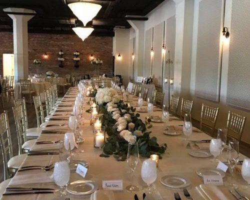 Wurlitzer Room Long Table Setting